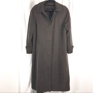 Anne Klein Trench Coat with hood, Size 8